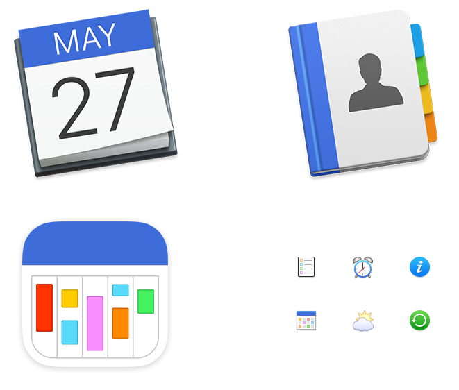 BusyMac Application icons Application & preference icons